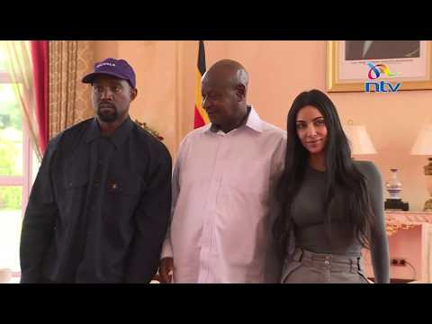 Kanye West meets Yoweri Museveni, gifts him pair of Yeezys