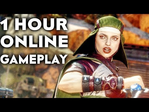 MORTAL KOMBAT 11 GAMEPLAY Online Beta 1 HOUR #2 (No Commentary)