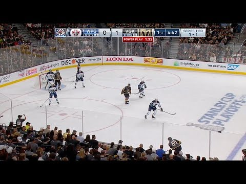 2018 Stanley Cup. WCF, Game 3. Jets vs Golden Knights. May 16, 2018