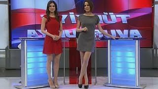 Sine Büyüka and Dilara Gönder Beautiful Turkish Tv Presenters 29.03.2013