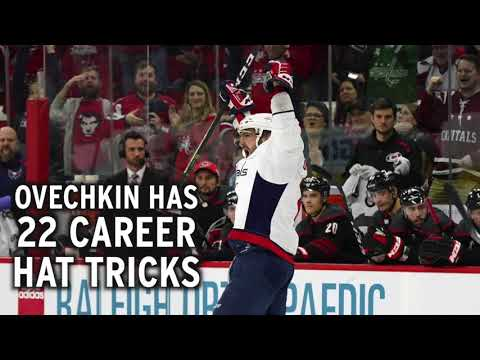 Video: Alex Ovechkin scores back-to-back hat tricks... again