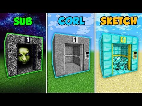 SUB vs CORL vs SKETCH - THE NORMAL ELEVATOR in Minecraft! (The Pals)