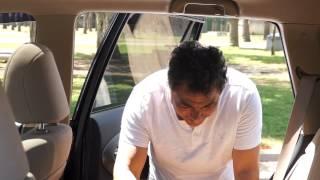 Il fait cuire une pizza grâce à la chaleur emmagasinée dans une voiture