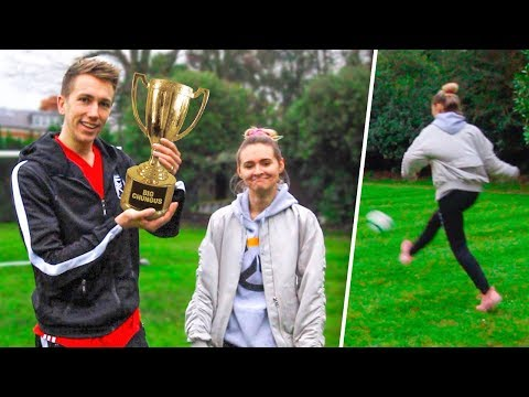 FOOTBALL CHALLENGES VS MY GIRLFRIEND