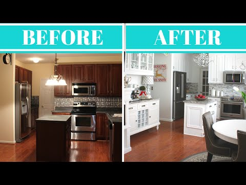 KITCHEN MAKEOVER REVEAL & TOUR   BEFORE & AFTER