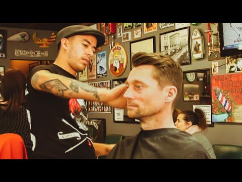 Haircut - The Nomad Barber Haircut - HairCut Harry is tidied up by The Nomad Barber at The Village Barbershop in Escondido, CA. If you are in London, then you too can ...