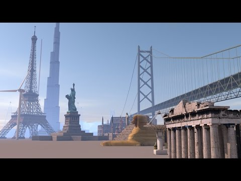 Buildings and structures size comparison (видео)