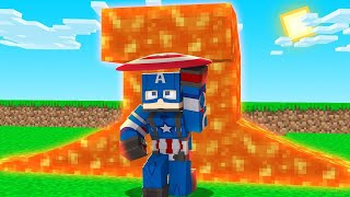 Playing MINECRAFT As CAPTAIN AMERICA! (super strong)