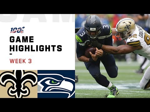 Saints vs. Seahawks Week 3 Highlights | NFL 2019