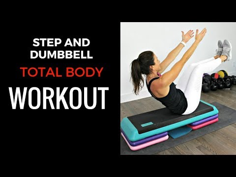 10 MINUTE STEP WORKOUT - FEATURING DUMBBELLS & BODYWEIGHT MOVES