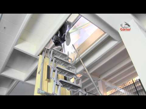 comment poser escalier escamotable
