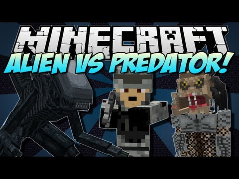 Minecraft | ALIEN vs PREDATOR! (NEW Weapons, Mobs and Buildings!) | Mod Showcase [1.5.1]
