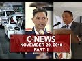 News (November 29, 2018) PART 1