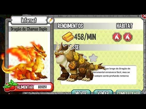 dragon city - E para o segundo dia do Evento temos Dragão Duplo de Fogo. Comparações de Vida: Fogo: Fogo Puro: Fogo Duplo: Comparações de poderes: Fogo: Fogo Puro: Fogo Du...
