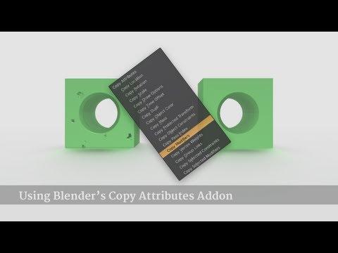 Using Blender's Copy Attributes Addon