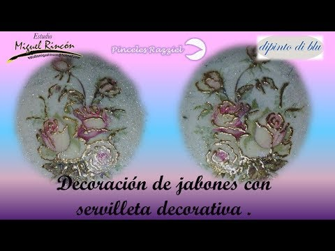 Manualidades, decoración de jabones y servilleta alemana con Miguel Rincón.