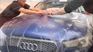 Niesamowity efekt! Audi RS5 oklejana folią matowo-bezbarwną!