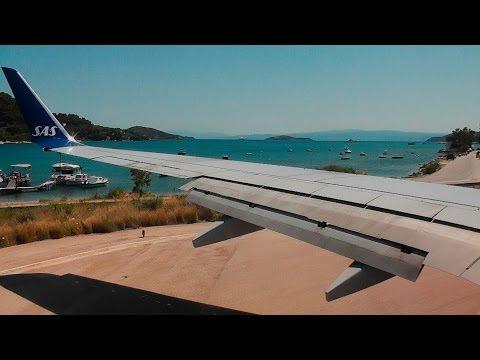 SAS 737-700 Incredible Short Runway Takeoff from Skiathos Airport!