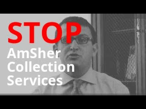 AmSher Collection Services Harassment? | Sue and Get Up to $1,500 Per Call | 855-301-5100