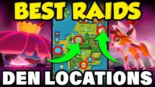 BEST ISLE OF ARMOR RAID LOCATIONS! Pokemon Isle of Armor Den Guide! by Verlisify