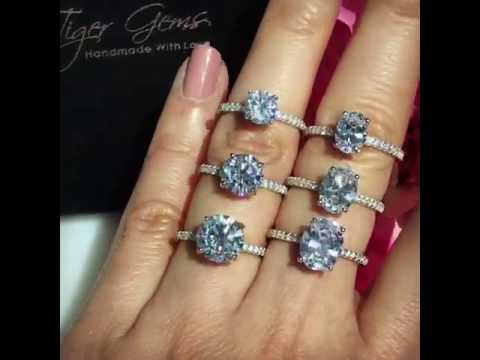 Round Accented Solitaire vs Oval Accented Solitaire Engagement Rings