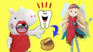 Peppa pig en español / a Pepa se le cae un diente y viene el hada de los dientes o ratón Pérez