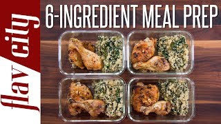 You guys asked for it, so behold, tasty and healthy meal prep for the week using only six ingredients. This meal prep recipe show how to meal prep in a very tasty and healthy way, using basic ingredients. Meal prepping chicken has never been tastier and you guys are going to love the quinoa recipe for the meal prep for the week.This recipe for chicken is easy and such a great meal prep idea. Let me know how you enjoy this meal prep! RECIPE: https://goo.gl/b7DKt8SUBSCRIBE: http://goo.gl/pWpsoqMacros: 640 calories per meal34.1 grams of fat per meal24.2 grams of carbs per meal48.4 grams of protein per meal4 grams of fiber per mealGET THE KITCHEN GEAR I USE:baking dish for chicken: http://amzn.to/2srvNfrget my t-shirt: http://tidd.ly/b1b0a754large non-stick pan: http://amzn.to/2juY2qRglass meal prep containers: http://amzn.to/2neLNQYmicroplane zester: http://amzn.to/2guLd1SNew Videos Every Friday!Follow Me On Social Media:Facebook: https://www.facebook.com/flavcityInstagram: https://www.instagram.com/flavcitySnapchat: flavcityTwitter: https://www.twitter.com/flavcityI'm out to prove that home cooks can be rock stars in the kitchen. I look forward to sharing my recipes & cooking style with you on my channel!Music from Audio Network