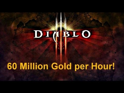 Diablo III Farmer makes 60 Million Gold an Hour and Tells All!