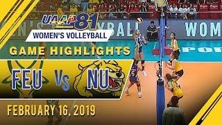 UAAP 81 WV: FEU vs. NU | Game Highlights | February 16, 2019