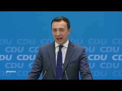 Pressekonferenz mit CDU-Generalsekretär Paul Ziemiak, ...