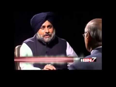 "When Sukhbir Badal referred Girls as ""ITEMS"" on a Live TV back in 2014 - Troll Punjabi"