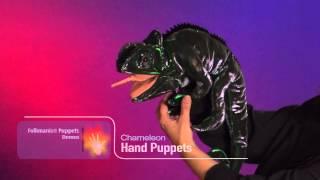 Handdocka Kameleont Folkmanis