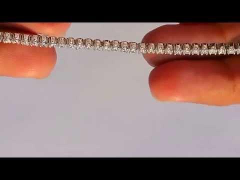 3 ct Real Diamond Bracelet VS clarity in 18K White Gold Hallmarked