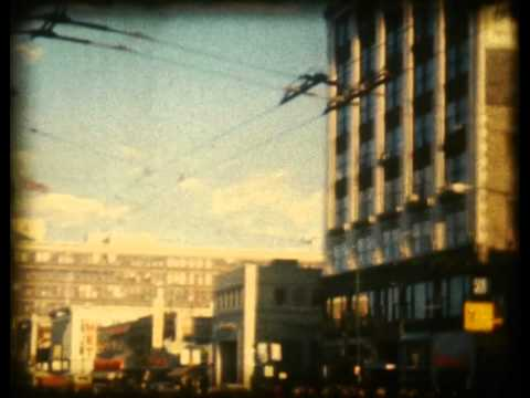 Downtown Winnipeg in 1966 8mm film