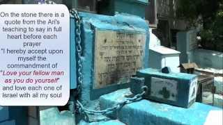 Safed Israel  city photo : Visit to the Holy Ari in Safed Israel.