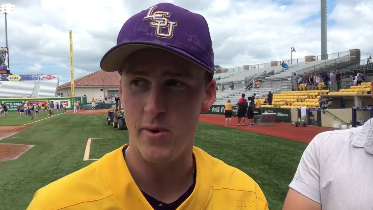 LSU's Eric Walker after he takes no-hitter into eighth inning against Auburn