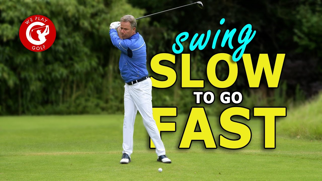 Swing slower to go faster. Get more distance with a slower golf swing