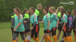 2017 metų Ladygolas nugalėtojas Marijampolio M. Lukšienės gimnazijos moksleives aplankė Moterų A lygoje žaidžianti MFA Žalgirio komanda.