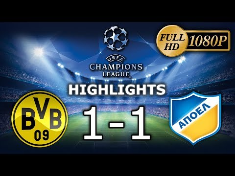 1080p ⚽Borussia Dortmund 1-1 APOEL - Skrót / Highlights - 🏆UCL🏆 (Group-Stage)  [01.11.2017]