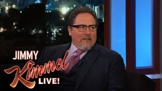"""Jon talks about Spider-Man and the two-minute teaser clip of his new CGI version of The Lion King he shared at the Disney D23 Expo.Caitlyn Jenner on Late Night Talk Show Hosts Teasing Bruce Jenner https://youtu.be/luSk8C9VhbwSUBSCRIBE to get the latest #KIMMEL: http://bit.ly/JKLSubscribeWatch Mean Tweets: http://bit.ly/KimmelMT10Connect with Jimmy Kimmel Live Online:Visit the Jimmy Kimmel Live WEBSITE: http://bit.ly/JKLWebsiteLike Jimmy Kimmel on FACEBOOK: http://bit.ly/KimmelFBLike Jimmy Kimmel Live on FACEBOOK: http://bit.ly/JKLFacebookFollow @JimmyKimmel on TWITTER: http://bit.ly/KimmelTWFollow Jimmy Kimmel Live on TWITTER: http://bit.ly/JKLTwitterFollow Jimmy Kimmel Live on INSTAGRAM: http://bit.ly/JKLInstagramAbout Jimmy Kimmel Live:Jimmy Kimmel serves as host and executive producer of Emmy-winning """"Jimmy Kimmel Live,"""" ABC's late-night talk show. """"Jimmy Kimmel Live"""" is well known for its huge viral video successes with 5.6 billion views on YouTube alone. Some of Kimmel's most popular comedy bits include - Mean Tweets, Lie Witness News, Jimmy's Twerk Fail Prank, Unnecessary Censorship, YouTube Challenge, The Baby Bachelor, Movie: The Movie, Handsome Men's Club, Jimmy Kimmel Lie Detective and music videos like """"I (Wanna) Channing All Over Your Tatum"""" and a Blurred Lines parody with Robin Thicke, Pharrell, Jimmy and his security guard Guillermo. Now in its fifteenth season, Kimmel's guests have included: Johnny Depp, Meryl Streep, Tom Cruise, Halle Berry, Harrison Ford, Jennifer Aniston, Will Ferrell, Katy Perry, Tom Hanks, Scarlett Johansson, Channing Tatum, George Clooney, Larry David, Charlize Theron, Mark Wahlberg, Kobe Bryant, Steve Carell, Hugh Jackman, Kristen Wiig, Jeff Bridges, Jennifer Garner, Ryan Gosling, Bryan Cranston, Jamie Foxx, Amy Poehler, Ben Affleck, Robert Downey Jr., Jake Gyllenhaal, Oprah, and unfortunately Matt Damon.Jon Favreau on Spider-Man & The Lion Kinghttps://youtu.be/8NpDjcPGcZY"""
