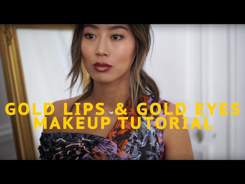 Gold Lips & Gold Eyes Makeup Tutorial | Song of Style
