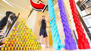 Video WHO CAN BUILD THE WORLD'S TALLEST TOWER? MP3, 3GP, MP4, WEBM, AVI, FLV Agustus 2019