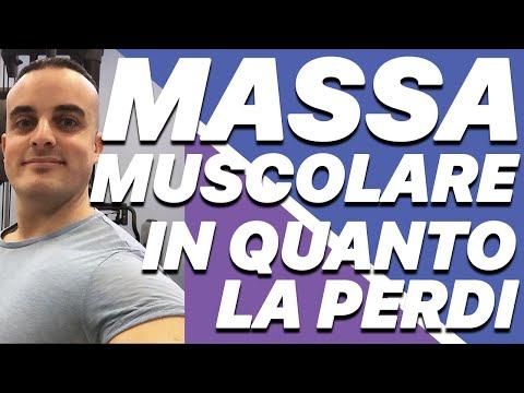 Se smetto di allenarmi in quanto tempo perdo massa muscolare?