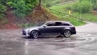 Seba zajechał swoje nowe Audi RS6 podczas driftu na parkingu! Tak się kończy głupota!