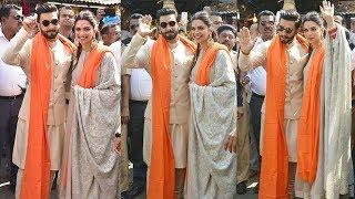Newly Wed Couple Ranveer Singh & Deepika Padukone Reach Siddhivinayak To Seek Blessings For MARRIAGE