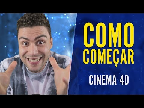 Como COMEÇAR No Cinema 4D - Tutorial Cinema 4D