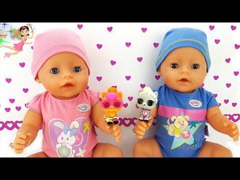 Videos caseros - Bebés de Baby Born Bruno y Rebeca adoptan LOL Surprise PETS