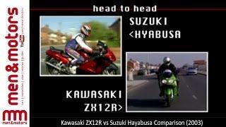 8. Kawasaki ZX12R vs Suzuki Hayabusa Comparison (2003)