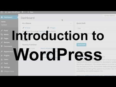 WordPress Introduction