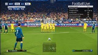 Video PES 2018 | Real Madrid vs PSG | Free Kick Goal C.Ronaldo | Final UEFA Champions League (UCL) MP3, 3GP, MP4, WEBM, AVI, FLV Mei 2018